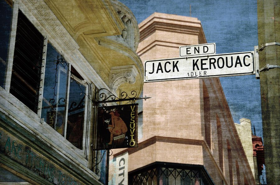 The sign marking the location of Jack Kerouac Alley