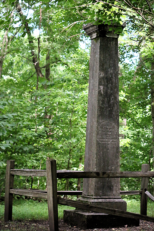 The grave marker of Dr. Thomas T. Watson is located along the Center Furnace trail.
