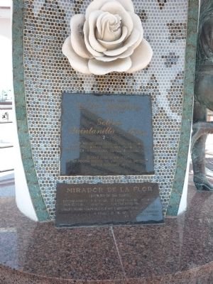 This is one side of the monument. It shows the white rose.