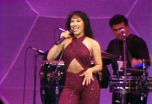 Singing was a passion for Selena, and her fans loved her. Pictured above is one of her iconic outfits.