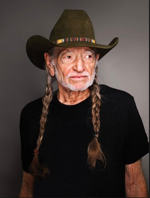 Willie Nelson at a Photoshoot for Time magazine.