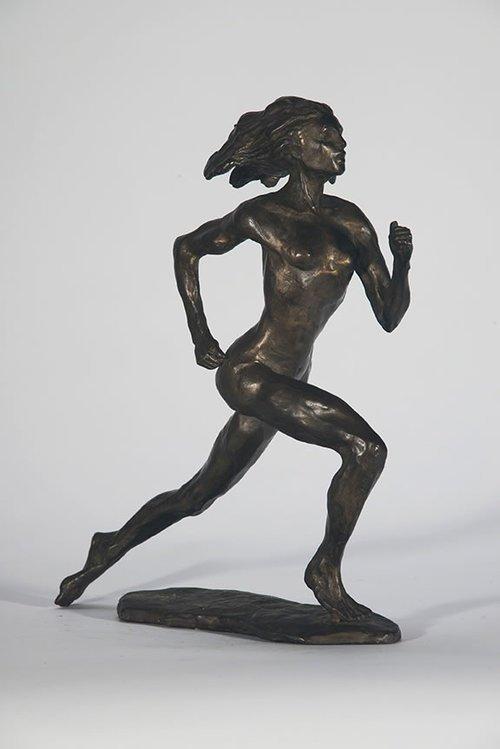 Bobbi Gibb Marathon Sculpture, designed by Bobbi Gibb.
