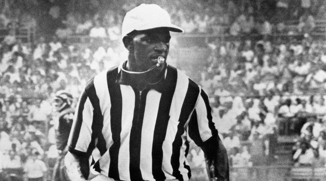 A photograph of Burl Toler in his officiating uniform. (University of San Francisco).