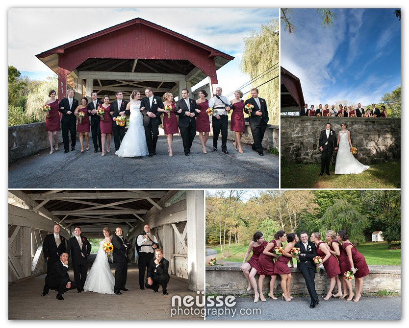 Bogert's Covered Bridge is a popular wedding photography spot as are most covered bridges.