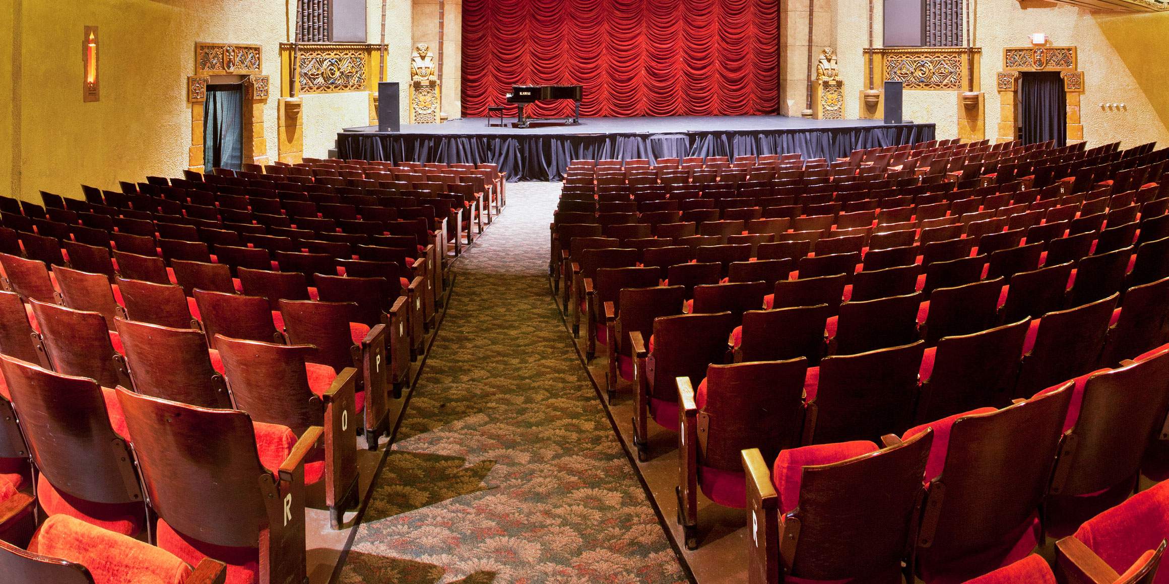 The restored interior of the Walker Theatre.