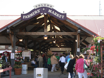 The Toledo Farmers' Market downtown location
