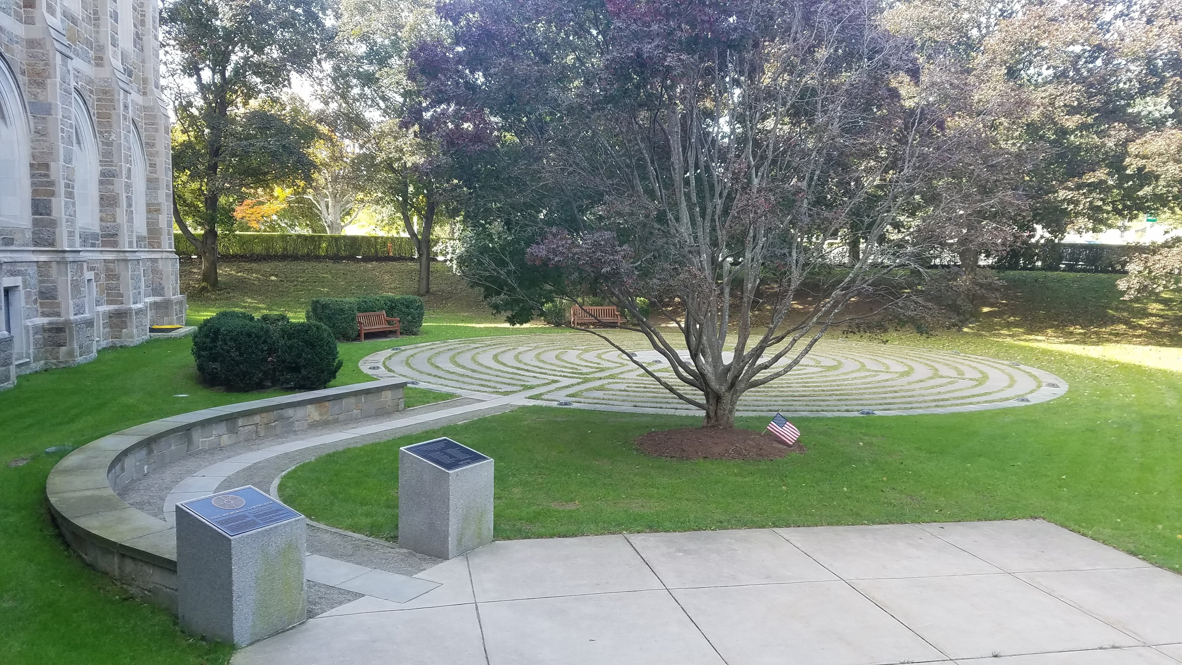 The 9/11 memorial labyrinth