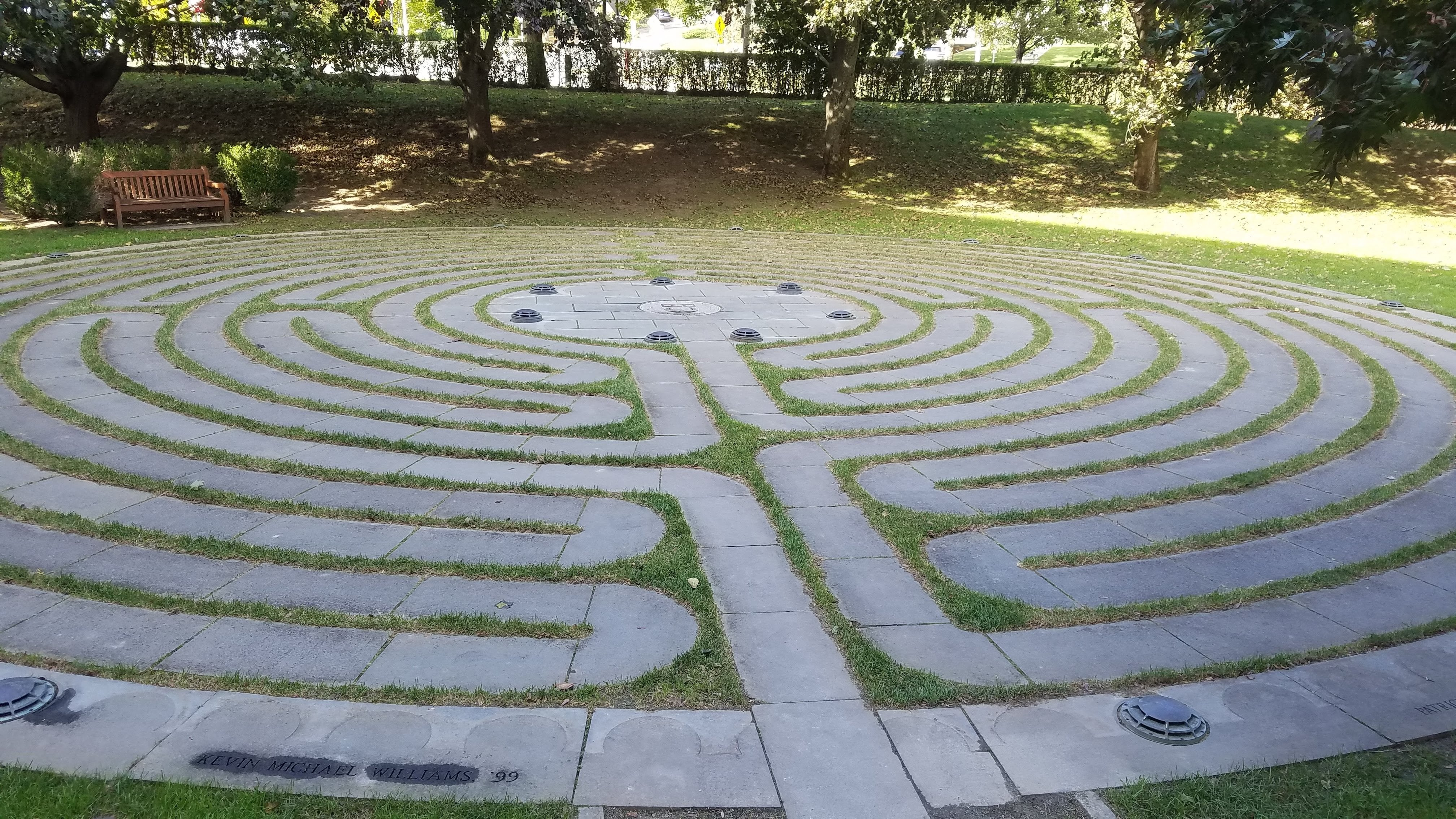 Close up of the labyrinth path