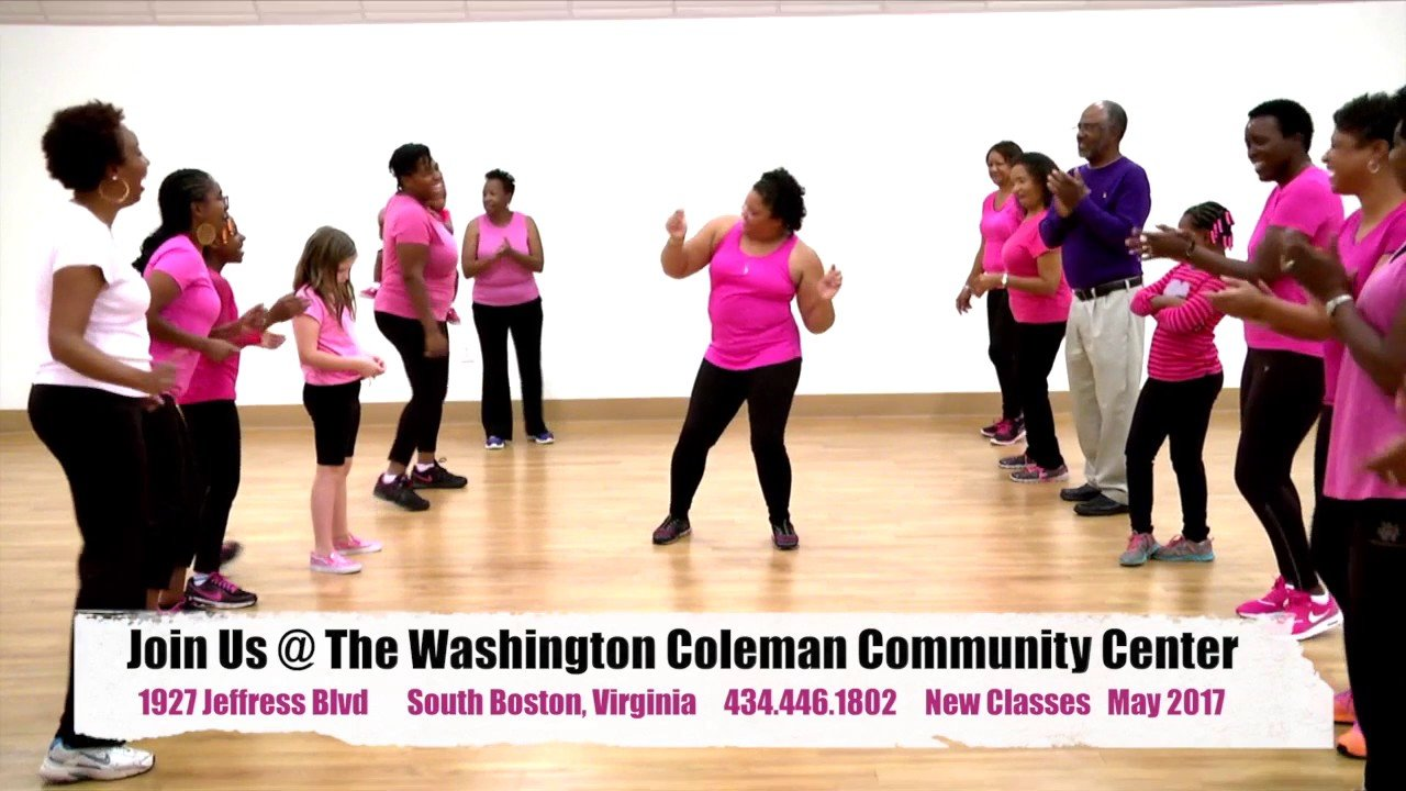one of the many dance/exercise classes offered by the community center