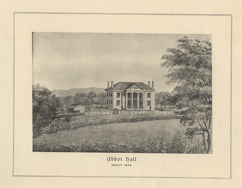 Sketch of Abbot Hall as it looked in 1829