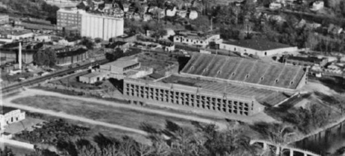 Victory Stadium, opened in 1942 hosted numerous high school, college, and professional football games