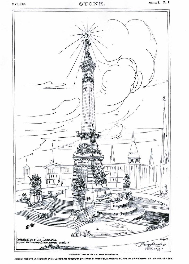 1888 rendering of the monument from STONE magazine