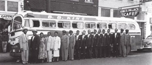 This was a common scene when the Chitlin Circuit would arrive on their bus before a performance.