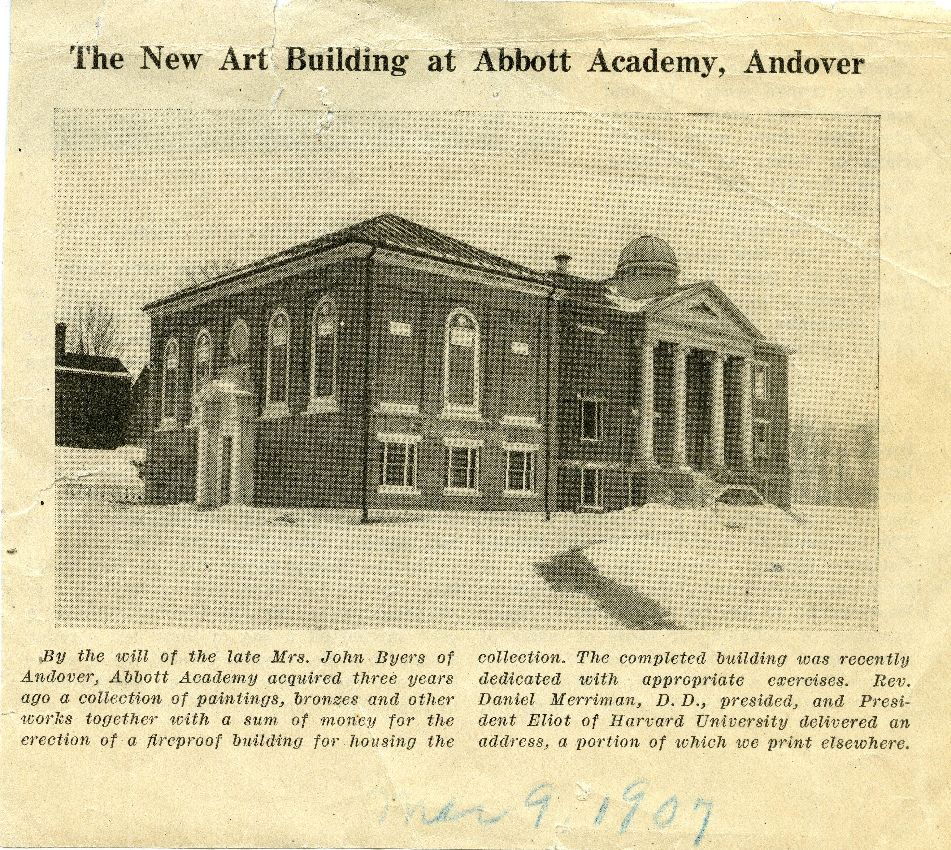 Abbot Hall, 1907