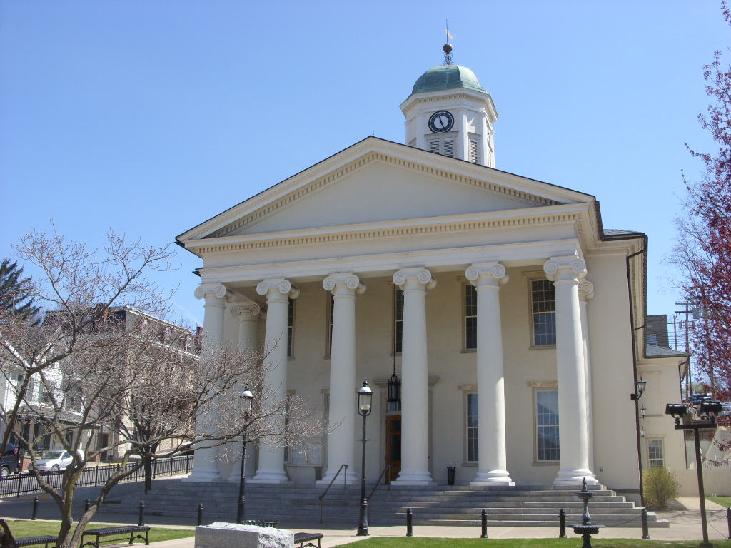 Centre County Courthouse was first built in 1805 and has been expanded many times.