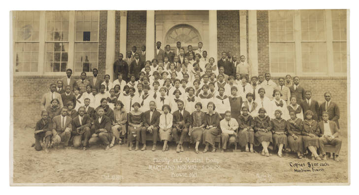During the 'Maryland Normal School' time period (1925). Image courtesy of the HBCU Library Alliance (public domain).