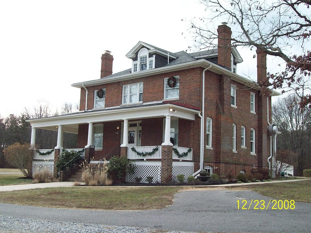 This was the home of the principal and is the only building that remains from the early period when the institution was known as Maryland Normal and Industrial School at Bowie. Image by Pubdog on Wikimedia Commons (released into public domain).