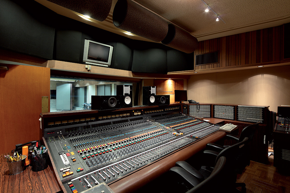 The soundboard that was engineered for studio one.