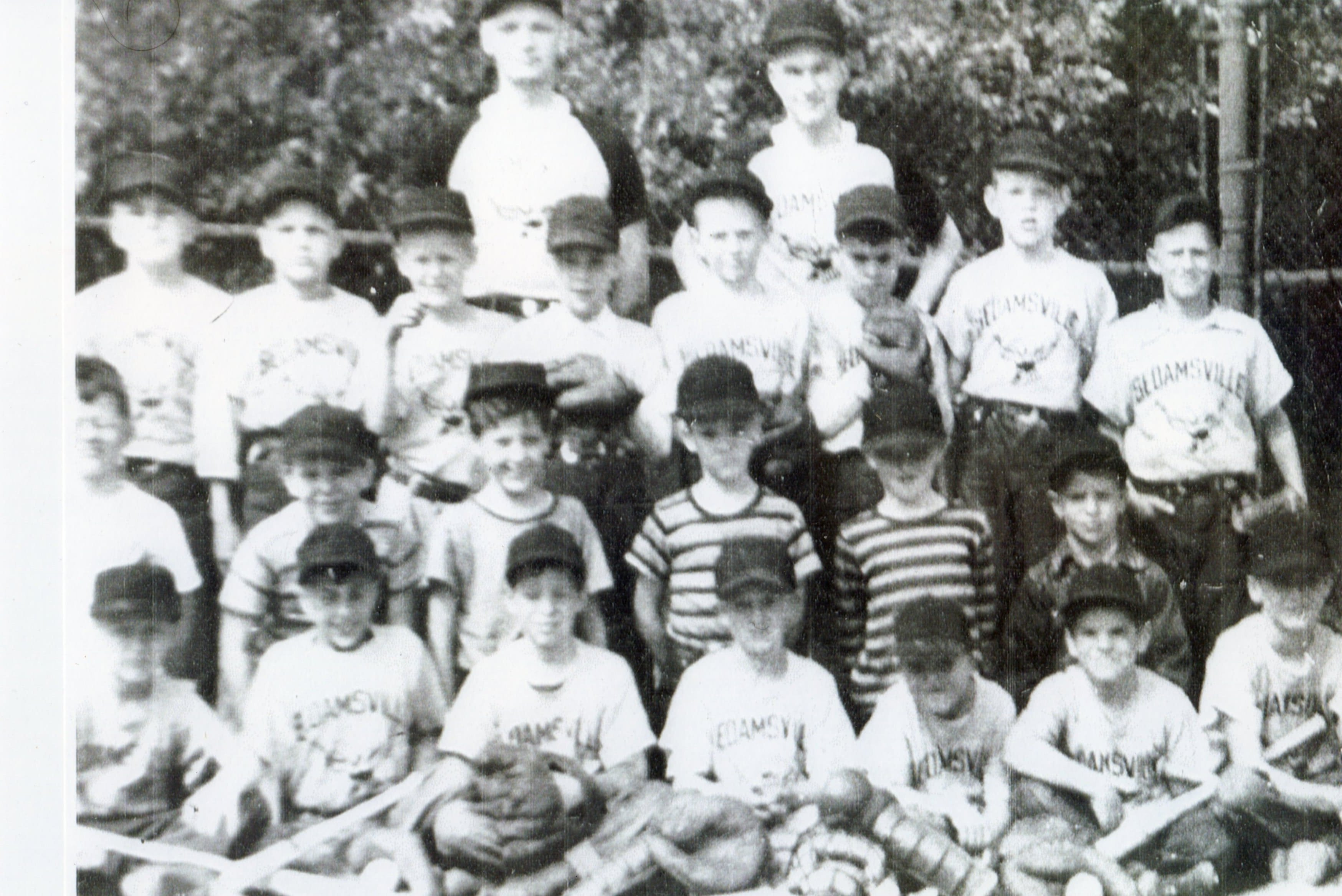Local Cincinnati Baseball Legend Pete Rose learned to play ball at Bold Face Park. Rose is pictured second to the right on the bottom row. Photo Courtesy of the Donald and Pamela Balzer Private Collection.