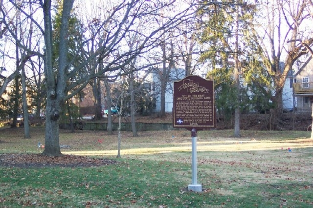 This is a photo of the marker taken by William Fischer Jr. just a few months after its establishment.