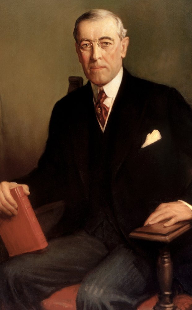 Our nation's 28th President Woodrow Wilson.