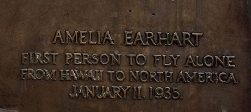 A photo of the Earhart Monument inscription.