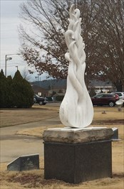 Fallen star sculpture created in 2009.