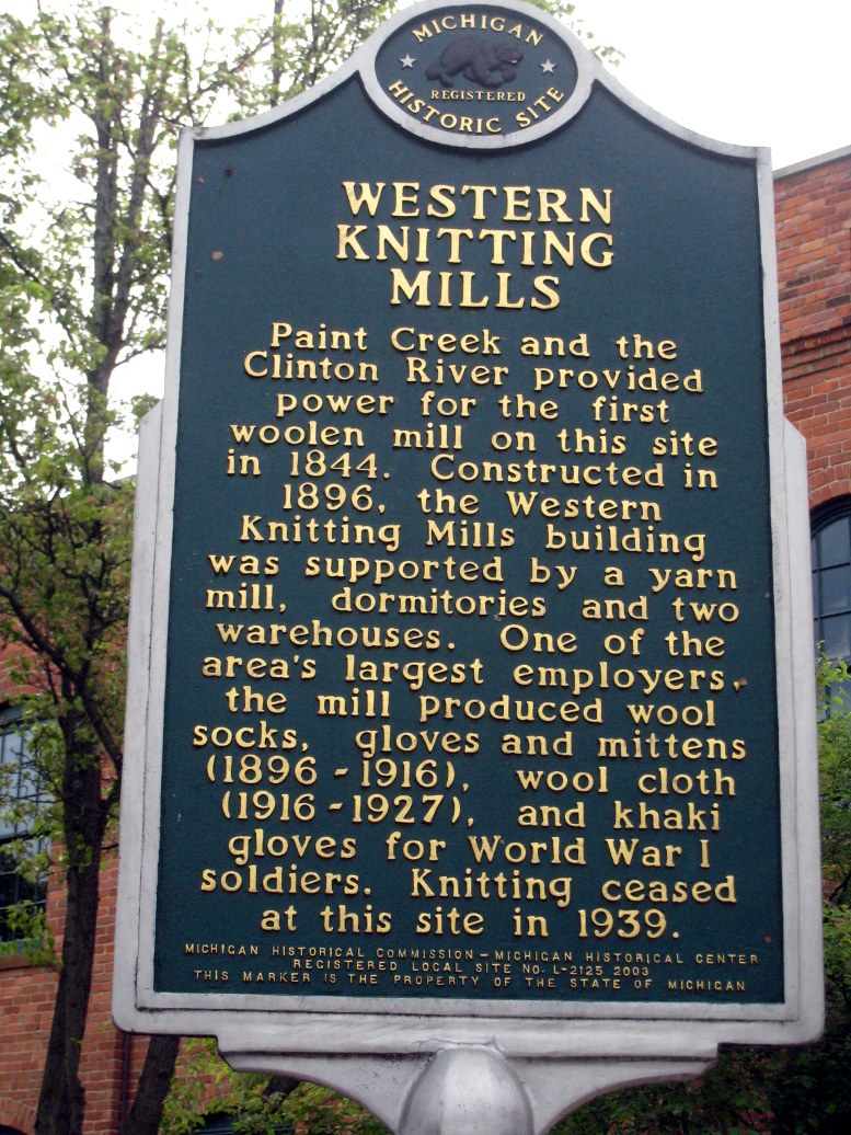Western Knitting Mills, Michigan Historical Marker, 2020