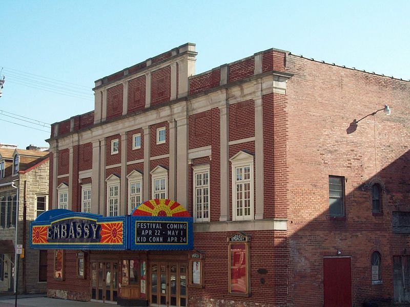 The Embassy Theatre was built in 1927 and has been slowly undergoing restoration since the early 2000s.