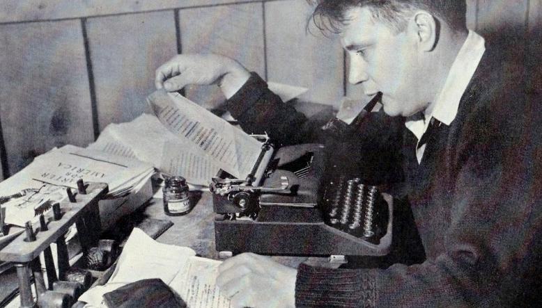 Jesse Stuart Typing Away!