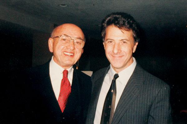 Jim Tweel with actor Dustin Hoffman