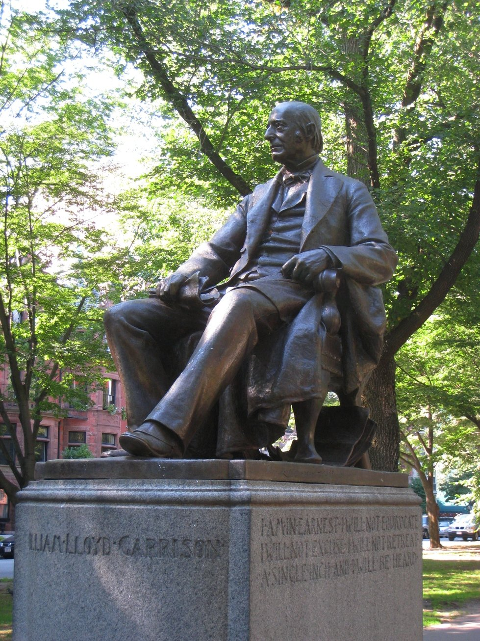William Lloyd Garrison Statue (image from Wikimedia)
