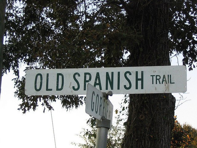 Old Spanish Trail street sign located in Florida. Credit: drivetheost, Flickr