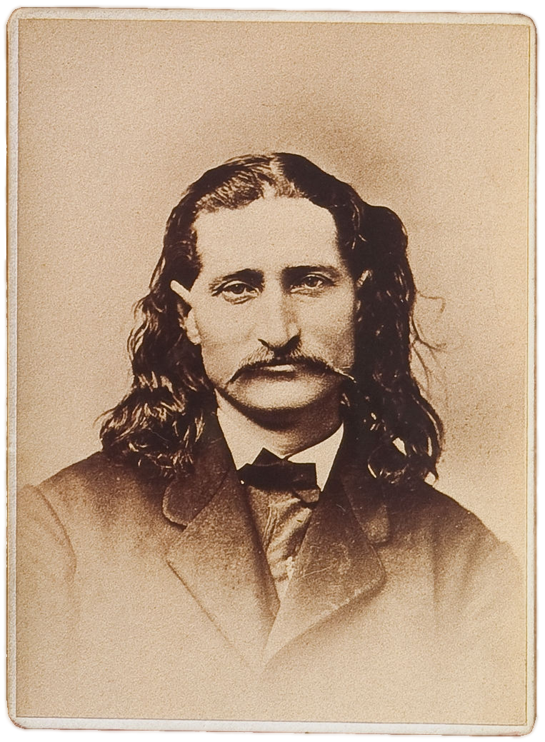 A sepia photo of Hickok, date unknown.