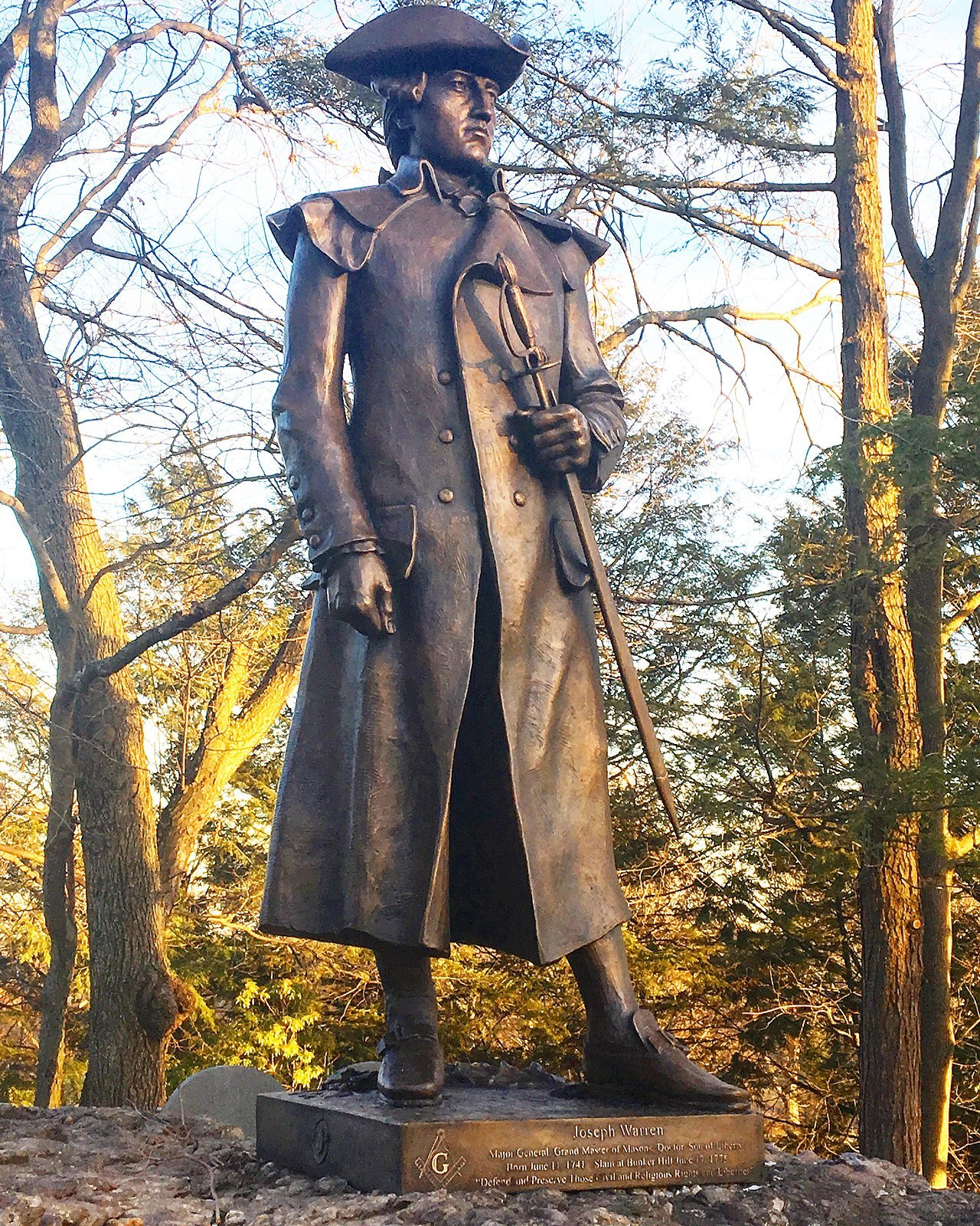 The Joseph Warren statue unveiled in 2016 at Forest Hill Cemetery is based on Bartlett's 1904 design.