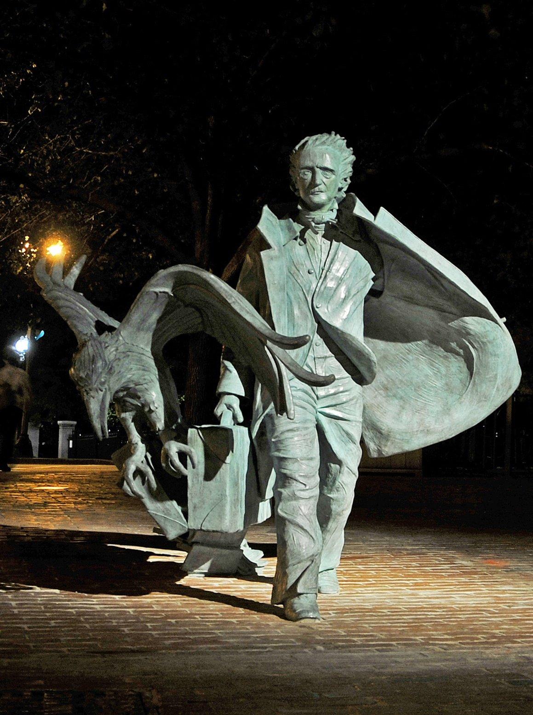 Poe at night Credit: Edgar Allan Poe Foundation of Boston, http://www.bostonpoe.org/
