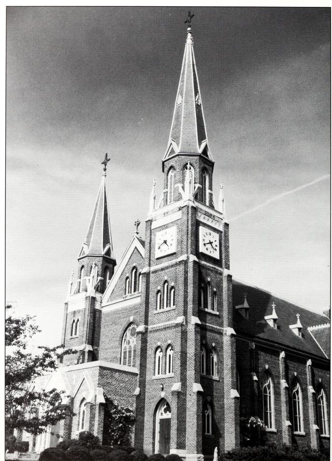 The Basillica of Mary, Help of Christians in 1975. Source: Fr. Paschal Baumstein, Blessings in the Years to Come (1997)
