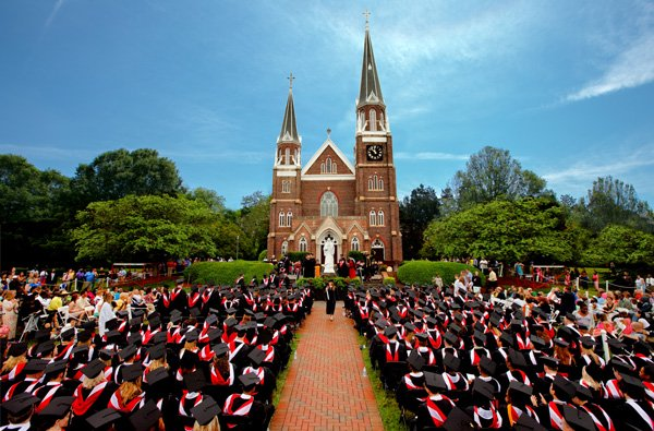 The 140th commencement exercises in front of Mary, Help of Christians Basilica on May 12, 2018.