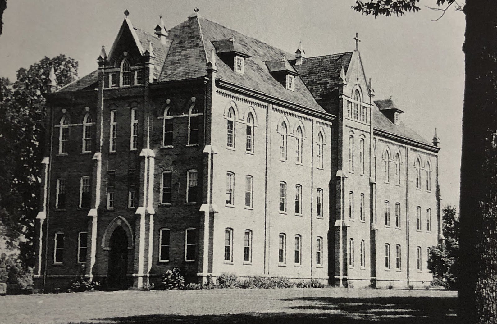 St. Leo's Hall in the mid-20th Century. Source: Paschal Baumstein, Blessings in the Years to Come (1997)