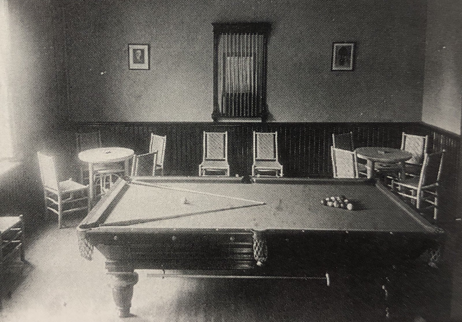 Billiard's room in St. Leo's Hall. Source: Paschal Baumstein, Blessings in the Years to Come (1997)