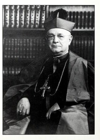 Abbot Vincent Taylor (1877-1959), second abbot of Belmont Abbey,  president of the college, and the namesake of the library. Source: Baumstein, Blessings in the Years to Come (1997).