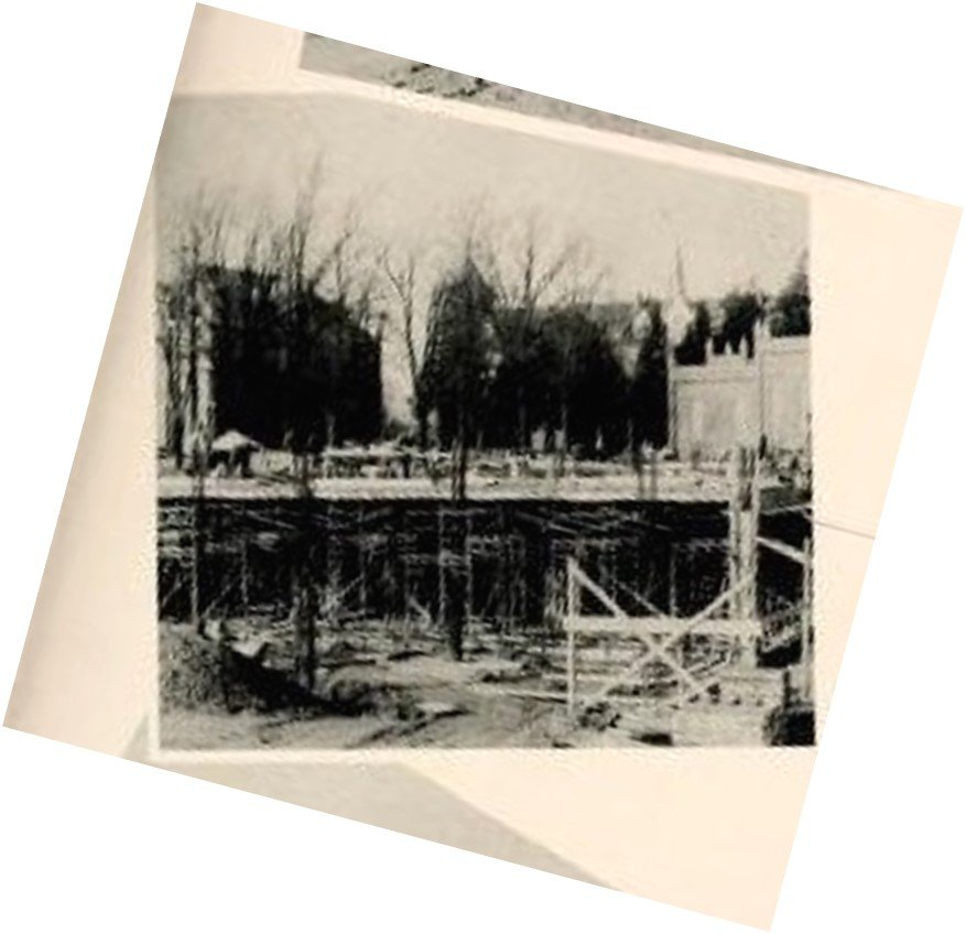 Construction of the Abbot Vincent Taylor Library. Source: The Spire Yearbook, 1958.