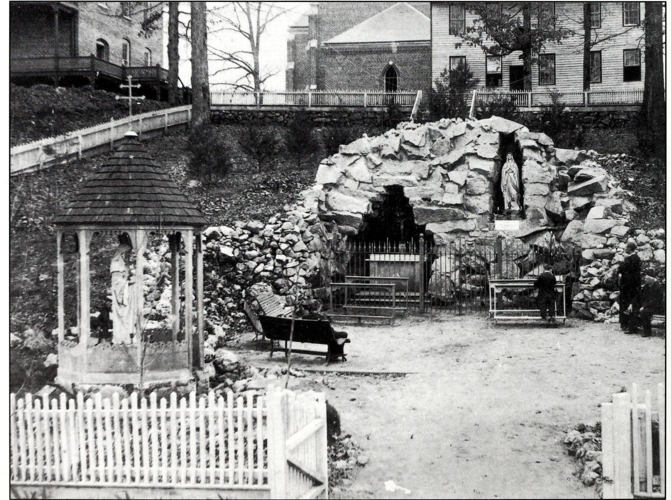 The Our Lady of Lourdes Grotto in 1894, three years after its creation.