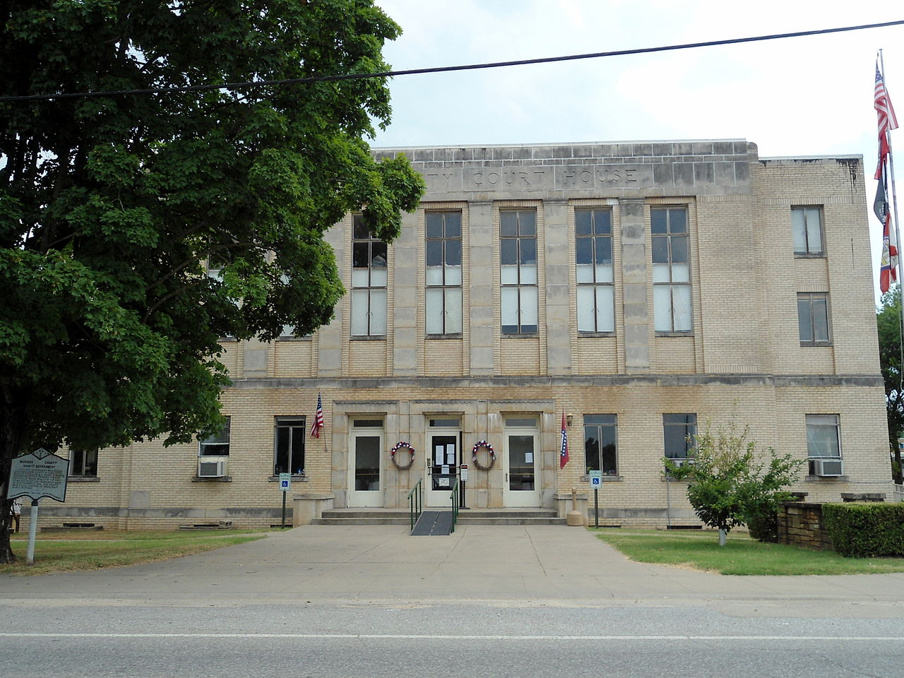 The Madison County Courthouse was built in 1939 with funding from the Federal Emergency Administration.