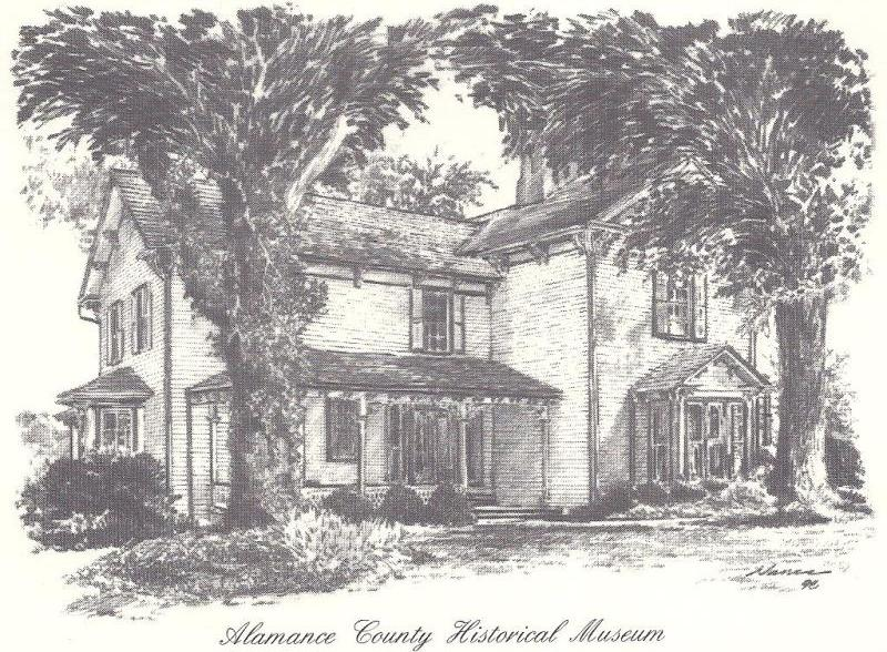 Drawing of the Plantation Home that has stood since 1790