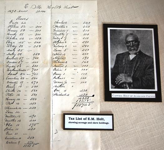 E.M. Holts tax list