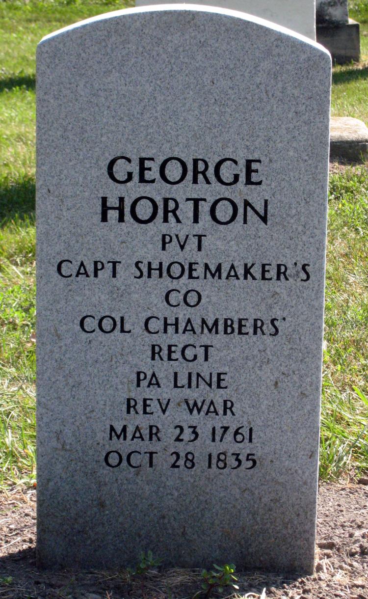 George Horton headstone, Mount Avon Cemetery