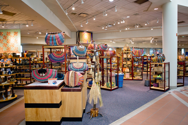 Tamarack currently markets over 20,000 products, including baskets, glass pieces, and jewelry, made by 2,000 artists across the state. Image obtained from the West Virginia Tourism Office.