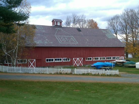An 1854 barn located within the historic district.