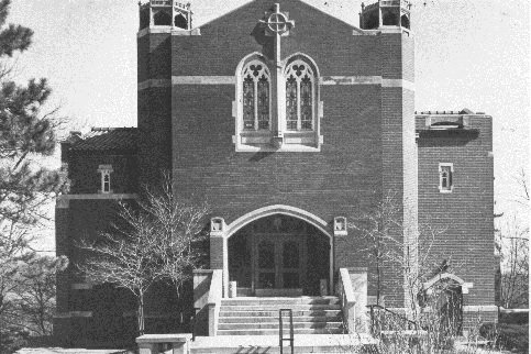 Brown Chapel with the new doors added in 1963.
